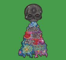Make Art Not Barf Skull Rainbow Galaxy Illustration Baby Tee