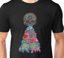 Make Art Not Barf Skull Rainbow Galaxy Illustration Unisex T-Shirt