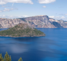 Summer Time At Crater Lake Sticker