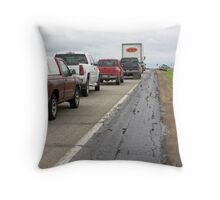 Rural Traffic Jam Throw Pillow