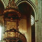 Pulpit of Domkirke Uppsala Sweden 198406160063  by Fred Mitchell