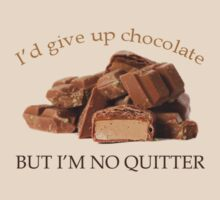 I'd Give Up Chocolate but .... by Barb Leopold