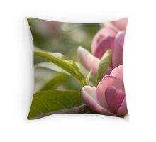 Pink Magnolia Throw Pillow