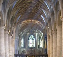 Sunday Eucharist in Tewkesbury Abbey, Gloucestershire, English West Midlands by Philip Mitchell