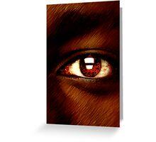Werewolfe Eye Greeting Card