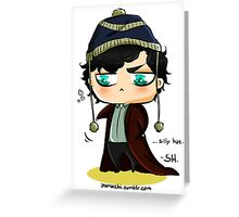 CHIBIBATCH - Silly hat Greeting Card
