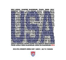 USWNT Roster Names Photographic Print