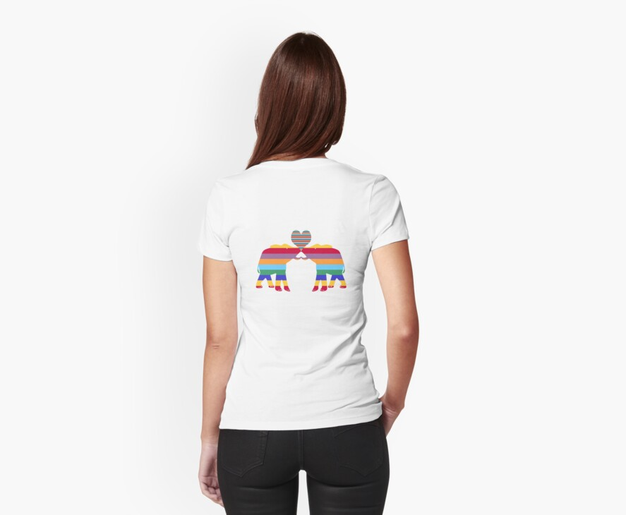 Love Elephants T-Shirt by simpsonvisuals