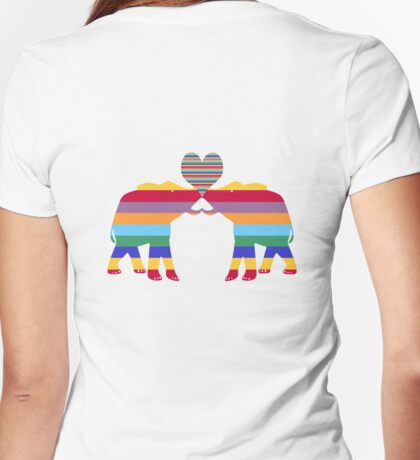 Love Elephants T-Shirt Womens Fitted T-Shirt