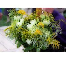 Wedding Flowers Photographic Print