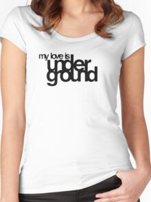My Love Is Underground Women's Fitted Scoop T-Shirt