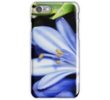 Blue and White Agapanthus Orton iPhone Case/Skin