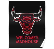 Madhouse Chicago Bulls Poster