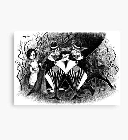 Tweedledum and eedeldeewT Canvas Print