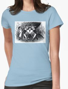 Tweedledum and eedeldeewT Womens Fitted T-Shirt