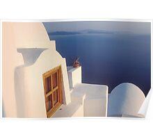 A View of the Caldera in Santorini, Greece Poster
