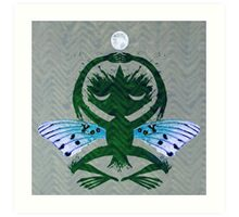 Haunted Solstice Moon Winged Thing Art Print