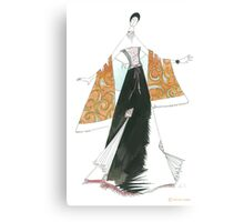 Golden shawl. Canvas Print