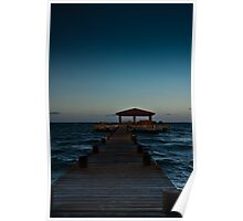 Last rays on the deck chairs Poster