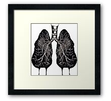 Ink Lungs Framed Print