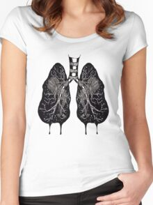 Ink Lungs Women's Fitted Scoop T-Shirt