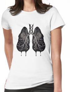 Ink Lungs Womens Fitted T-Shirt
