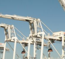 Shipping cranes at the Port of Oakland Sticker