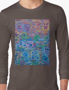 Cartoon Wall Long Sleeve T-Shirt