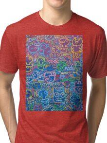Cartoon Wall Tri-blend T-Shirt