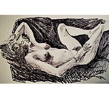 Amy reclining  Photographic Print