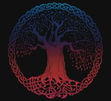 Celtic Tree (inverted sunset) by IceFaerie