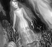 Water Sisters - grayscale by SumiIllustrator