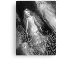 Water Sisters - grayscale Canvas Print
