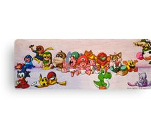 Baby Video Game Character Collage Canvas Print