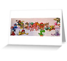 Baby Video Game Character Collage Greeting Card