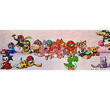 Baby Video Game Character Collage Photographic Print