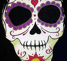 Day of the Dead Banshee Sugar Skull by natashablue
