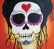 Dia de los Muertos Solstice Calavera by natashablue