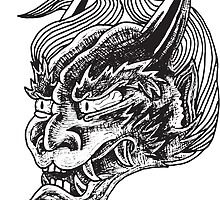Japanese Oni Head by thescaredpeople