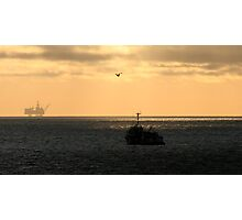 Scott Platform and Standby Vessel Vos Sailor Photographic Print