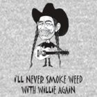 I'll never smoke weed with Willie again.  by Lisa Jones Caldwell