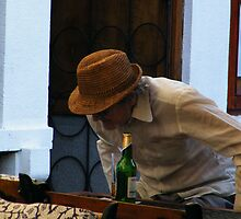 Old man in Sibiu town by costy33