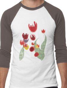Tulips garden flora surf tropic island paradise pullover sweatshirt Men's Baseball ¾ T-Shirt