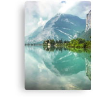 Castle and Lake of Toblino Canvas Print