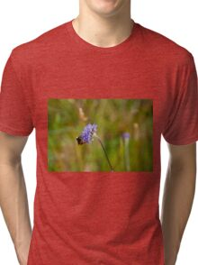 Bee and flower Tri-blend T-Shirt