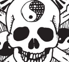 happy hippy skull Sticker