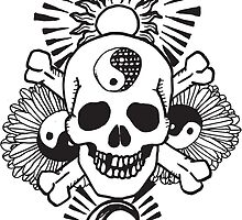 happy hippy skull by thescaredpeople