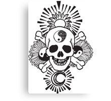 happy hippy skull Canvas Print