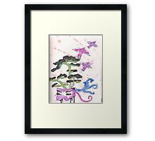 Brain Explosion Bonsai Framed Print