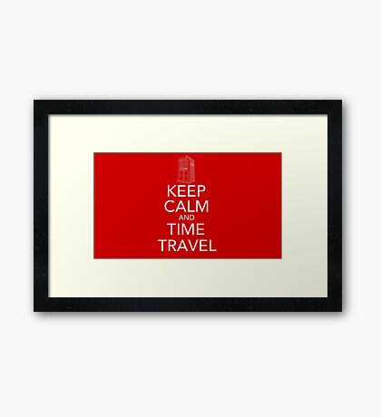 Keep calm and time travel (Doctor who) Framed Print